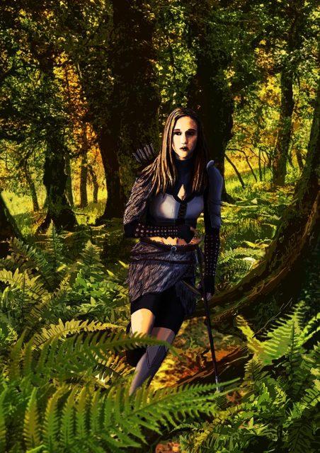 Atenea en el bosque de Sherland Día de la Mujer