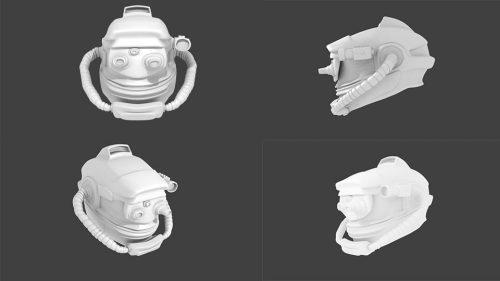 Casco espacial 3D