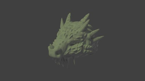 Cabeza dragón 3D