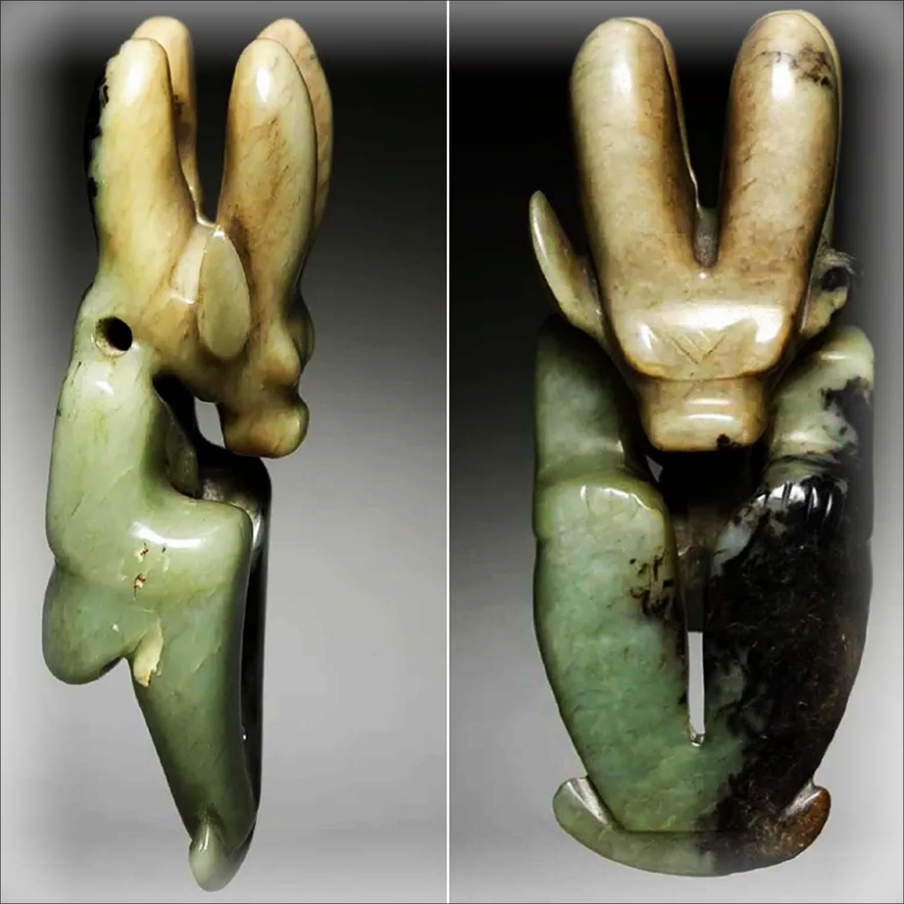 Escultura de Dragon de Jade