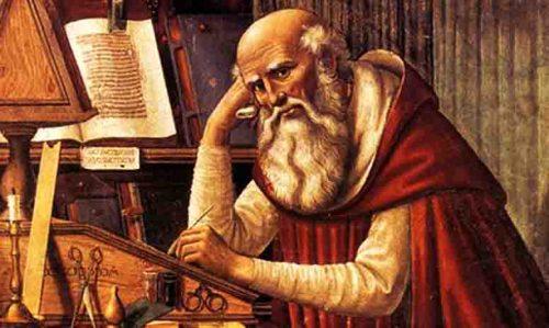 Primera edición monje transcribiendo