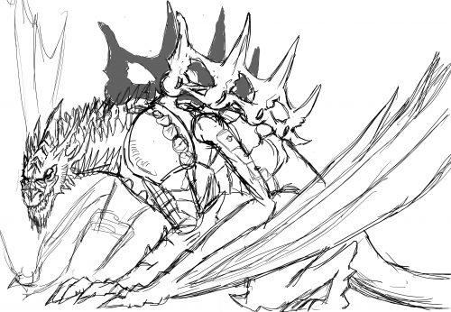 Boceto Dragón